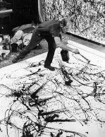 Jackson Pollock in action.